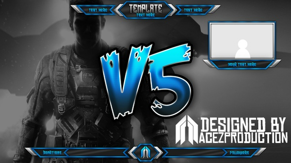 Live Stream Overlay Template Pack V5 - Photoshop Template
