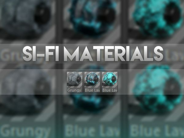 Si-Fi Style Banner Materials