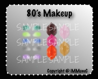 10 The 80's Lips & Eyeshadows Instant Makeup With Resell Rights
