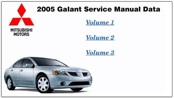 Mitsubishi Galant 2005 Factory Service Manual