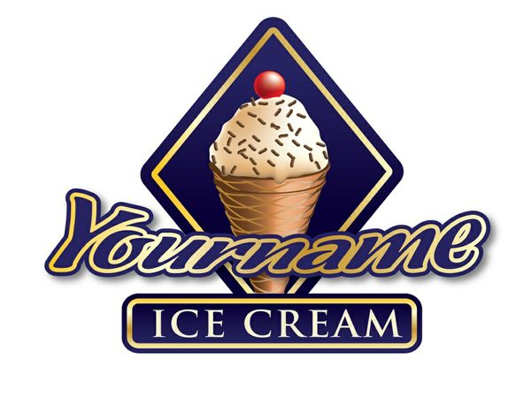 Ice-cream shop logo