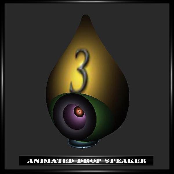 ANIMATED DROP SPEAKER