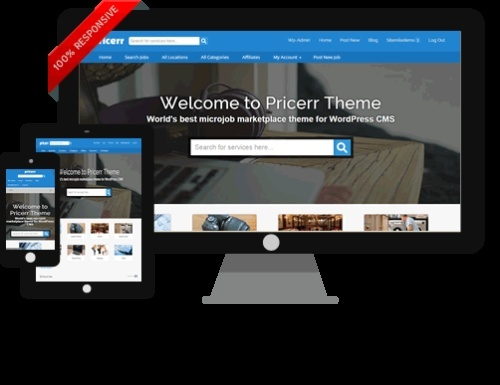 Get Wordpress Pricerr Theme v4.0 (Fiverr-clone)