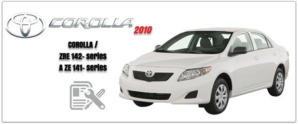 Toyota Corolla 2010 ZRE142,AZE141  Workshop Manual