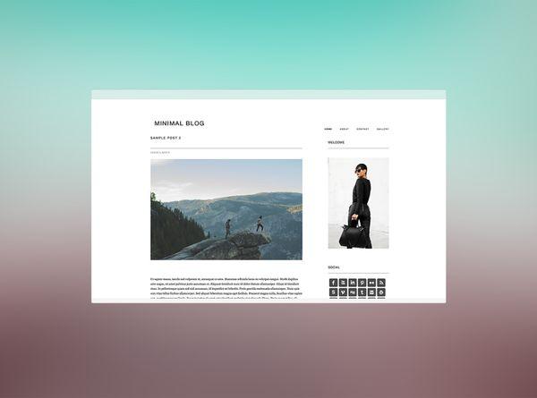 Beautiful Responsive WordPress Theme – Minimal Blog By Indie Studio