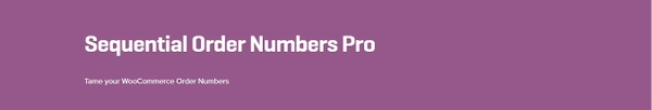 WooCommerce Sequential Order Numbers Pro 1.11.3 Extension