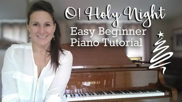 O! Holy Night - Easy Beginner and Chord Piano Versions