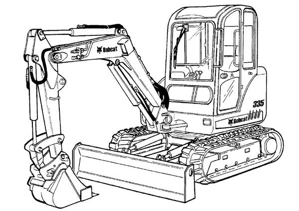 Bobcat 335 Compact Excavator Service Repair Manual Download