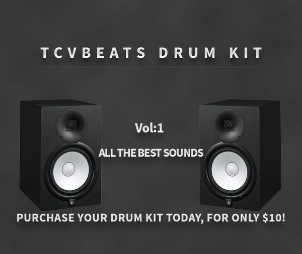 TCVBeats Drum Kit Vol.1  150+ Sounds Trap Essentials