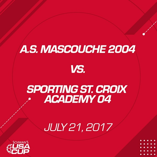 Boys U13 - July 21, 2017 - A.S. Mascouche 2004 V. Sporting St. Croix Academy 04
