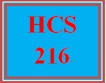 HCS 216 Week 3 Knowledge Checks- Week 3