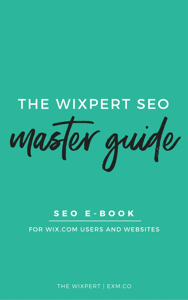 WIXPERT SEO MASTER GUIDE