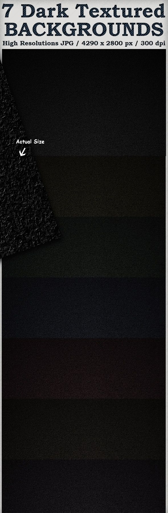 7 Dark Textured Background
