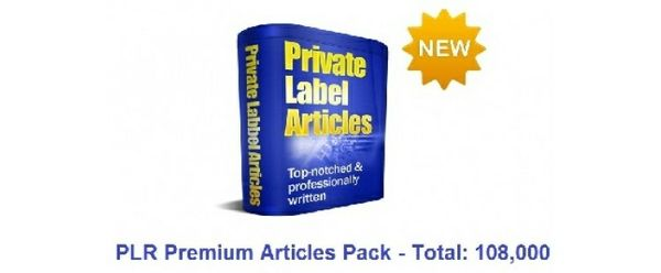 PLR Premium Articles Pack - Total: 108,000