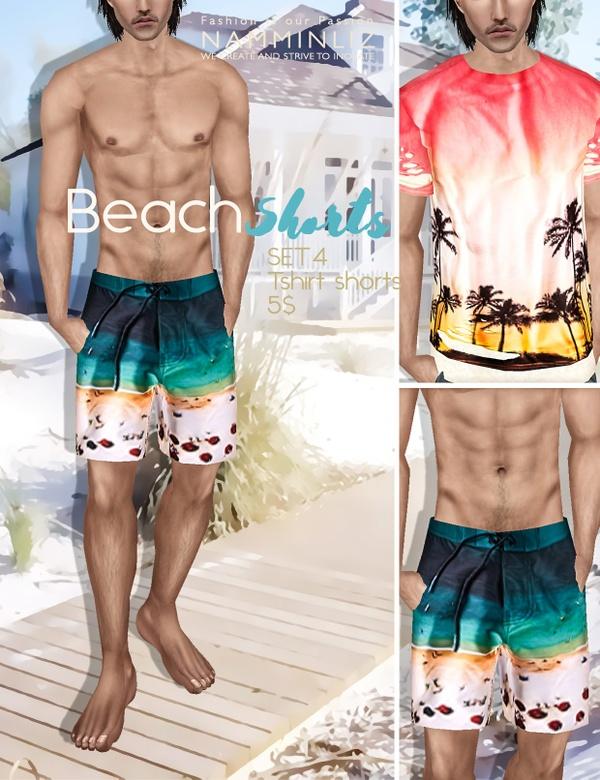 BEACH SHORTS SET 4 imvu PNG