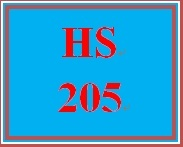 HS 205 Week 4 Intervention, Treatment, and Care Plan Case Studies