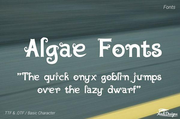 Algae Fonts - Fantasy - PWYW