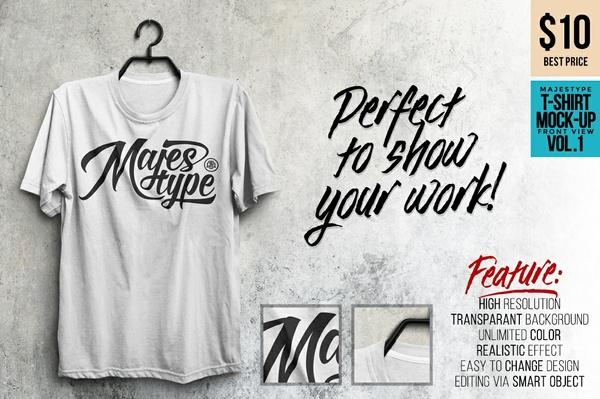 MJT Realistic T-Shirt Mockup