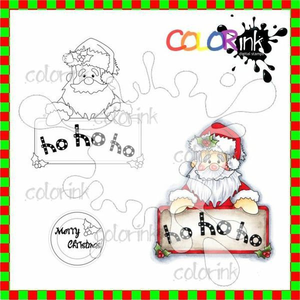 HO HO HO Santa and Sentiment