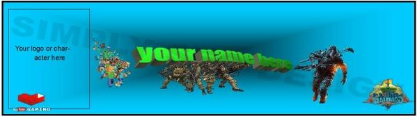Online gaming banner dezign