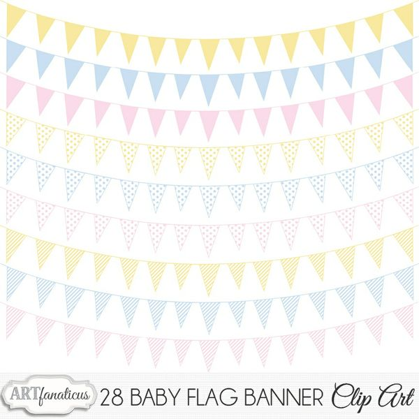 BABY BUNTING FLAG BANNER CLIPART