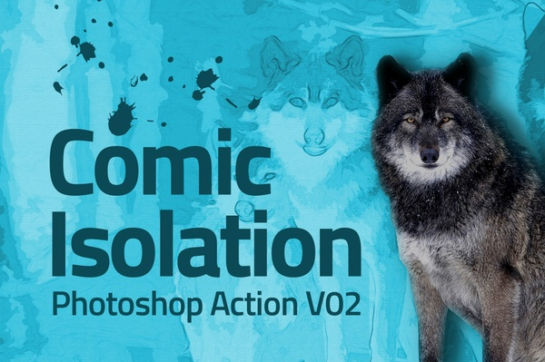 Comic Draw Isolation Photoshop Actions