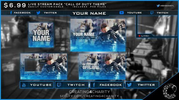 """""""Call of Duty"""" pre-made livestream pack!"""