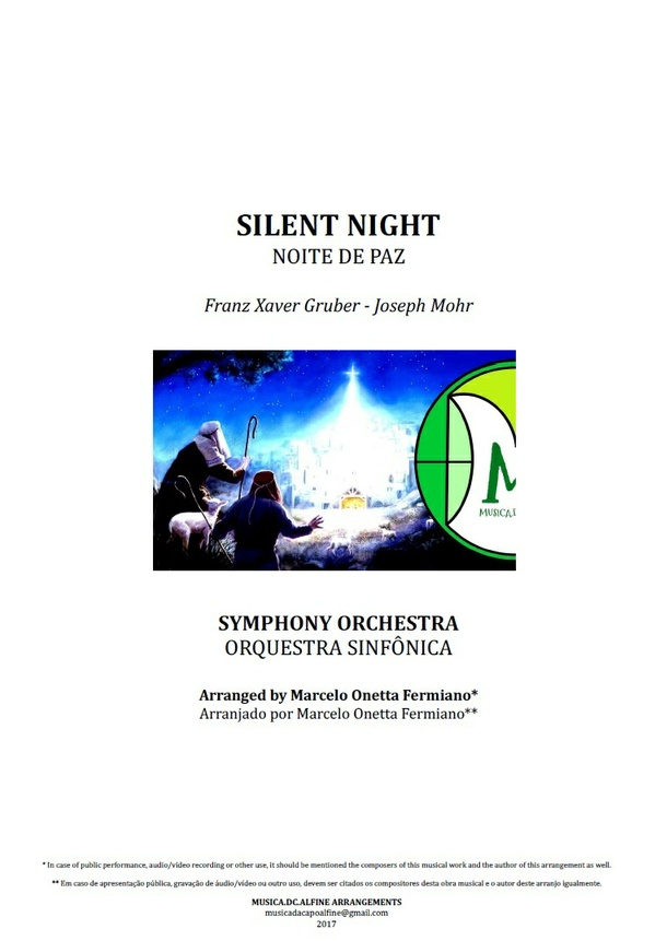 Silent Night | Stille Nacht | Symphony Orchestra | Score and Parts