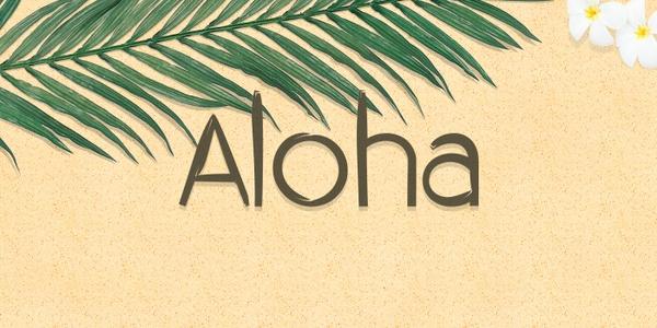 FONT - Aloha