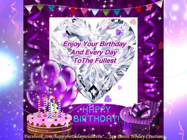 Purple Sparkle hbd wishes