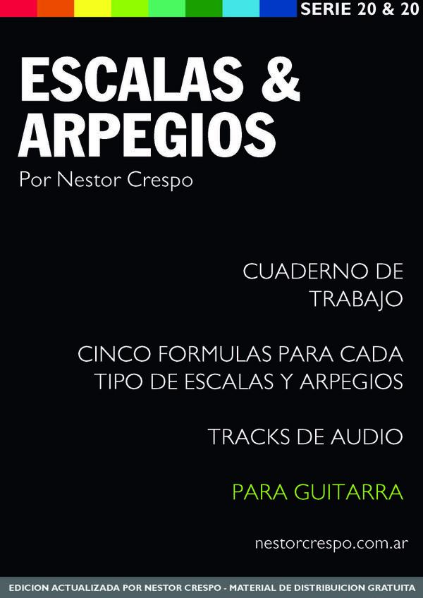 GUITARRA  / GRATIS - DONACION -  Libro de Escalas y Arpegios