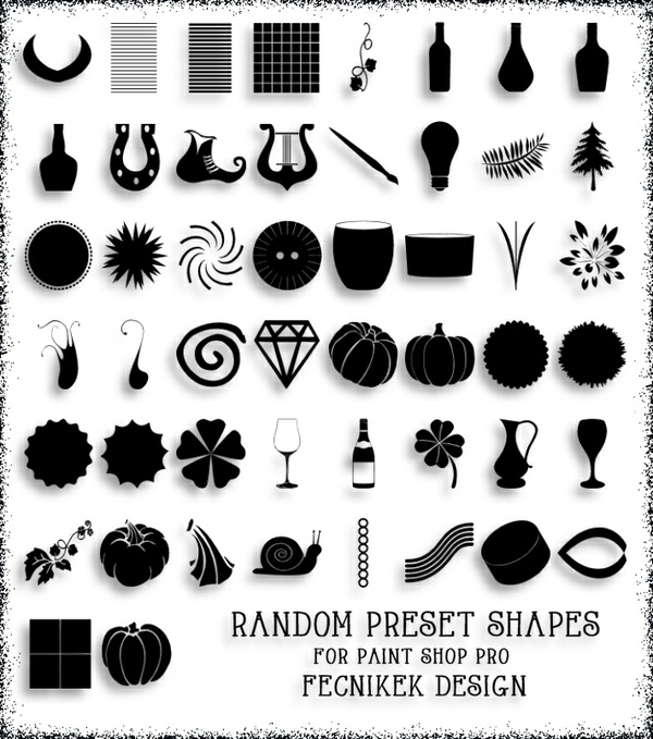 Random preset shapes for Paint Shop Pro