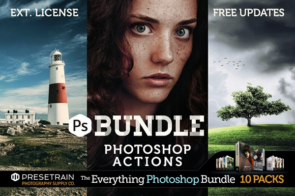 Pro Photoshop Actions Bundle - The Everything Photoshop Bundle by Presetrain Co.