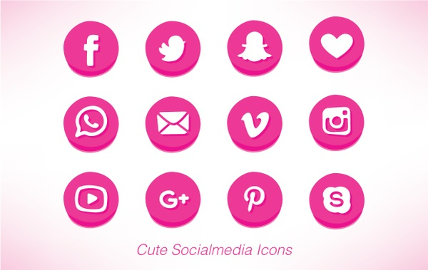 Cute Socialmedia Icons
