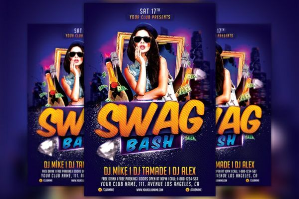 Swag Bash Flyer Template
