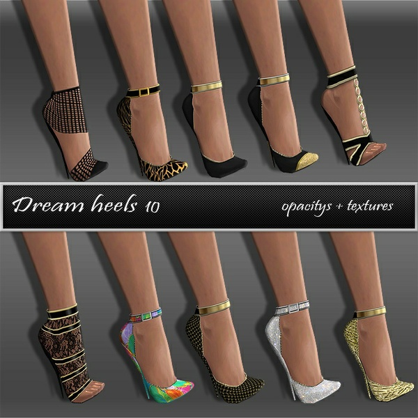 Dream Heels Texture Set Full Pack IMVU TEX