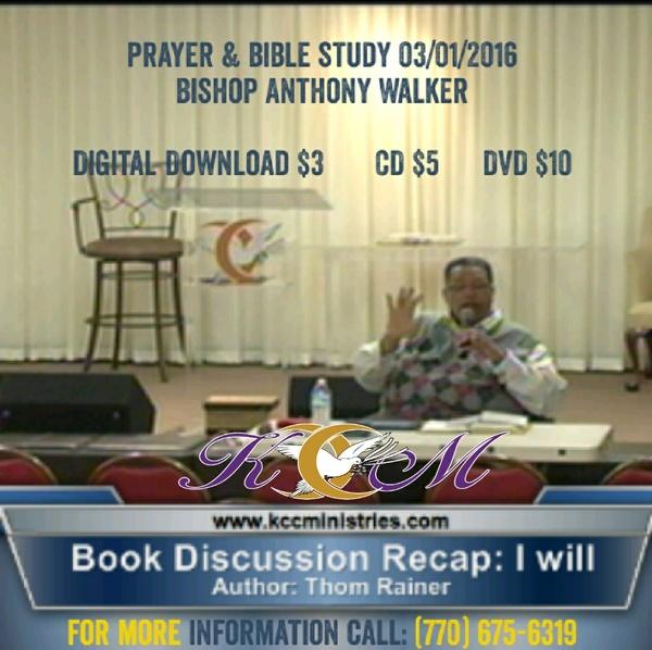 Prayer & Bible Study 03/01/2016