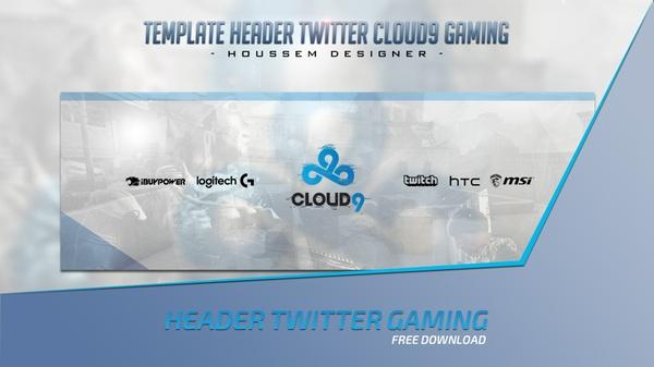 Template 2d Clean Header Twitter Cloud9 Gaming