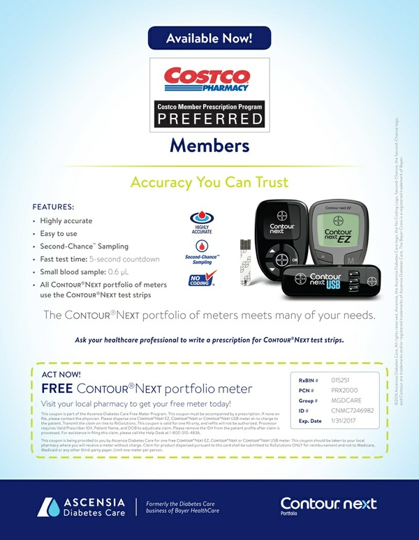 FREE BAYER CONTOUR®NEXT METER COUPON
