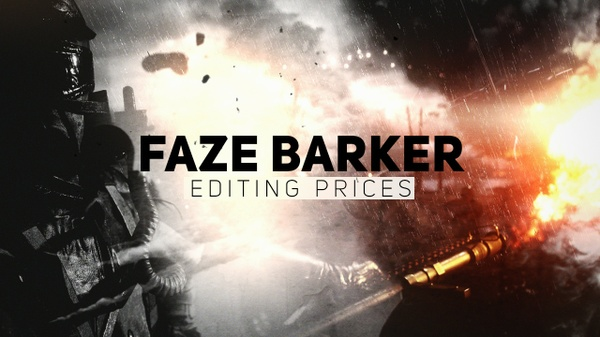 FaZe Barker UPDATED Editing Prices