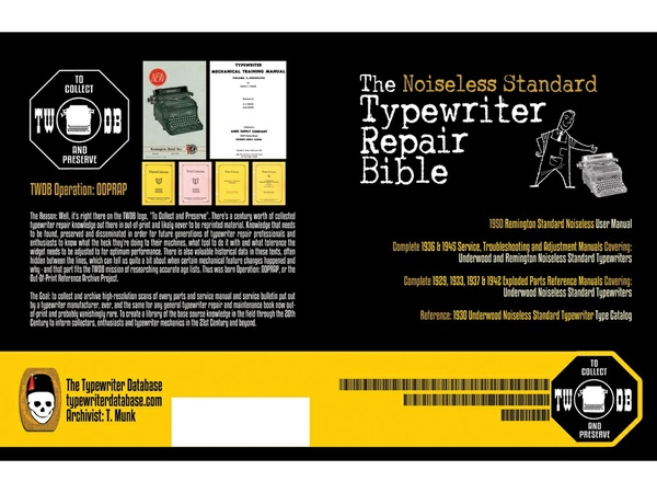 The Noiseless Standard Typewriter Repair Bible