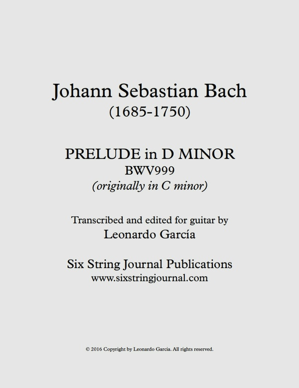 Bach Prelude BWV999 SSJE110