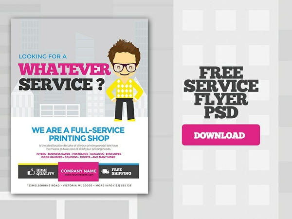 Free Services Flyer PSD Template - Flyer PSD Templates