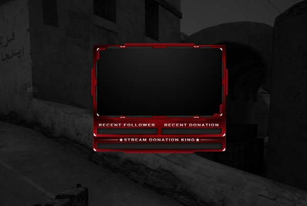 #10 Stream Cam Overlay inkl. PSD - Red