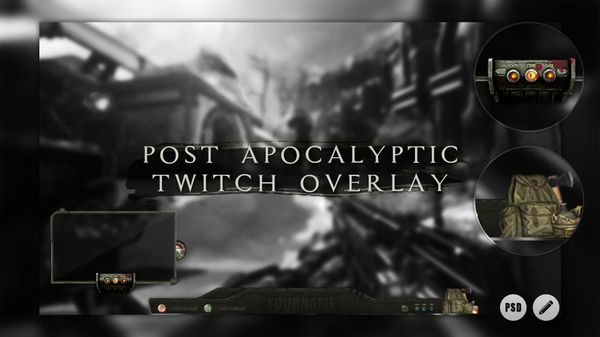 Post Apocalyptic | Twitch Overlay Template