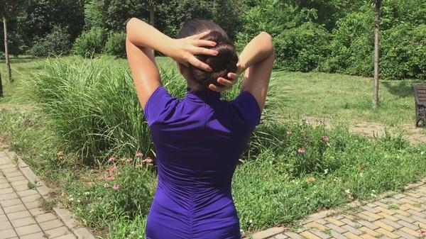Mila Ivanova - Classic Length, Thick Hair at Park