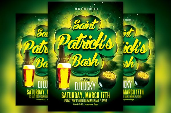 St. Patrick's Bash Flyer Template