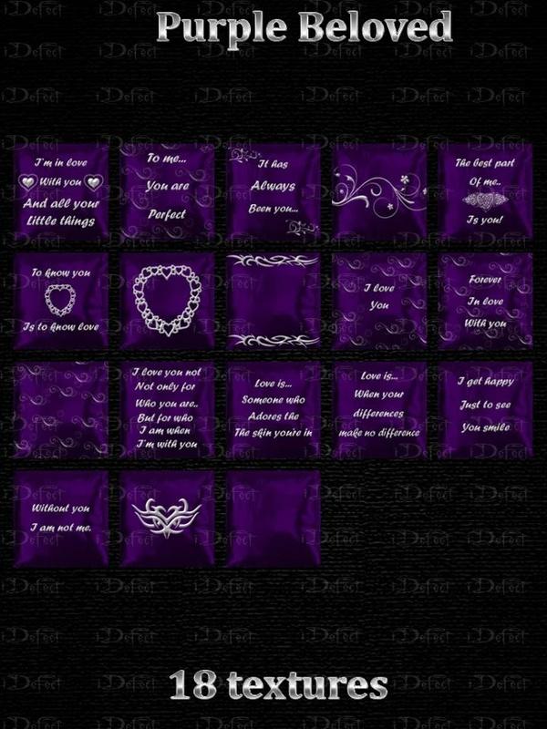 Purple Beloved Pillows
