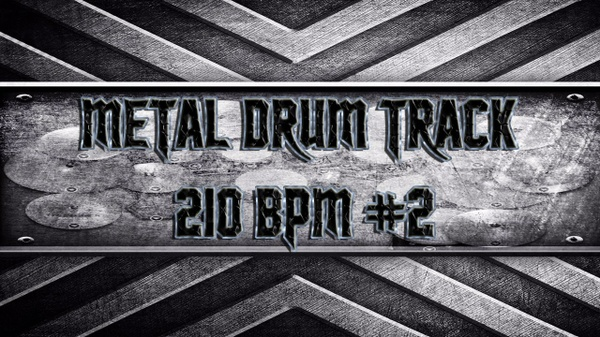 Metal Drum Track 210 BPM #2