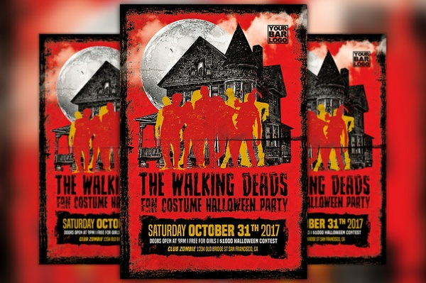 The Walking Deads Party Flyer Template